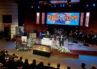 Una docena de Vikings en el funeral de George Floyd