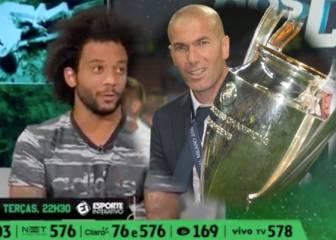 marcelo cuenta qu dijo zidane en el descanso de la duodcima