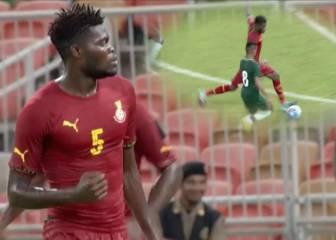 El recital de Thomas con Ghana: misil que rompe la red y 'asistencia'