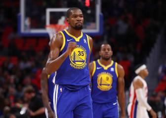 Kevin Durant hace de él y de Curry: ¡36 puntos ante los Pistons!