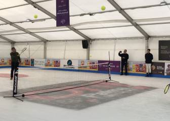 Toni Nadal tiene calidad... ¡hasta jugando en una pista de hielo!