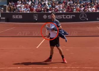La furia de Fognini acabó con la raqueta: ¡¡¡La partió en dos!!!