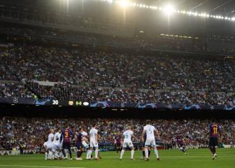 Así empieza la Champions un marciano: la falta soberbia de Messi...